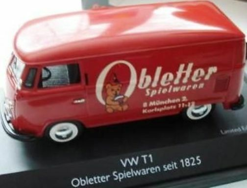 mejor marca Raro Schuco VW T1 furgoneta furgoneta furgoneta obletter Spielwaren 1825 Promo 1 43 Nueva En Caja 1 de 500 Rojo  descuento