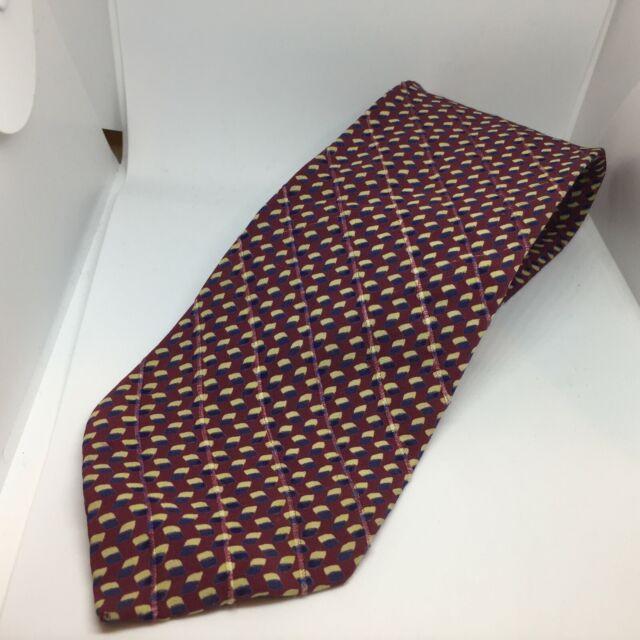 Emporio Armani Neck Tie Made in Italy 100% Silk Men designer dress work cube 3-D