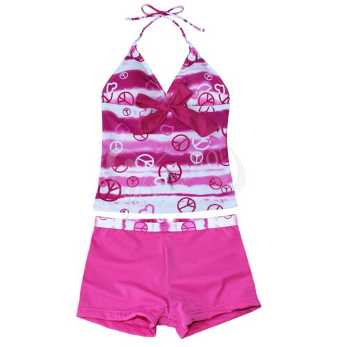 NWT GIRLS SIZE 8-16 TWO PIECE SWIM BATHING SUIT TANKINI KIDS SWIMWEAR TANKINI