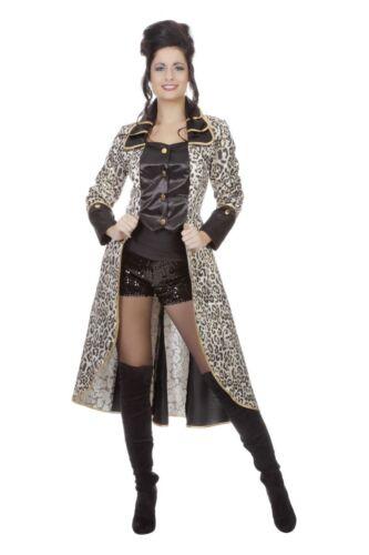 Damen Kostüm Panther Leo Leopard Mantel Karneval Fasching FFF