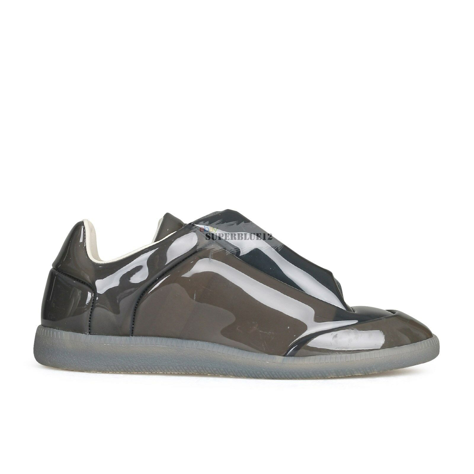 MAISON MARGIELA Grey Transparent Future Low-Top Sneakers FREE SHIPPING