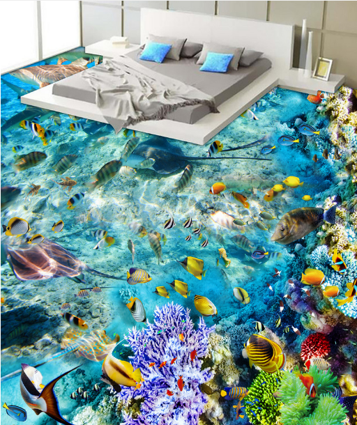 3D Marine Dolphin Coral 878 Floor WallPaper Murals Wall Print Decal 5D AU Lemon
