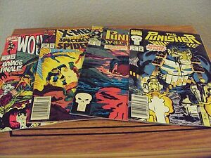 Lot-of-4-Punisher-Wolverine-and-X-Men-Comic-Books