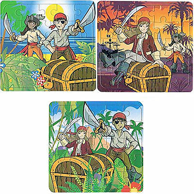 6 x Pirate Jigsaw Puzzles - Children's Activities / Party Bag Filler Toys!