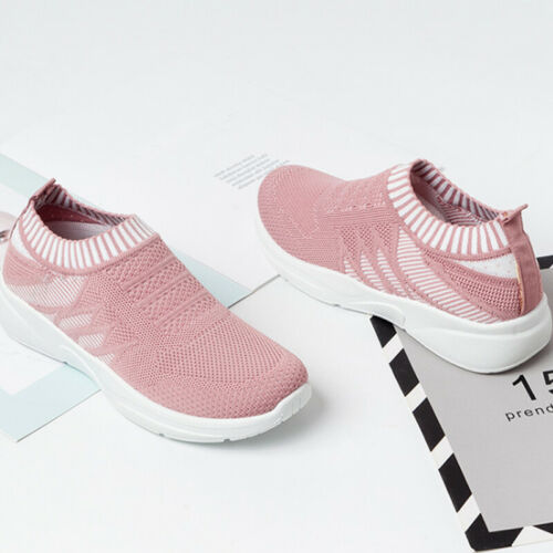 Womens Breathable Mesh Trainers Sneaker Ladies Comfy Sports Style Pumps Shoes