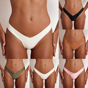 Women-G-String-Thongs-Bikini-Bottoms-Cheeky-Brazilian-Panties-Beachwear-Swimwear
