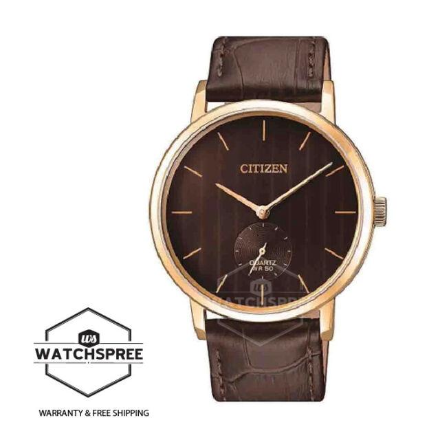 Citizen Men's Quartz 50m Leather Watch BE9173-07X