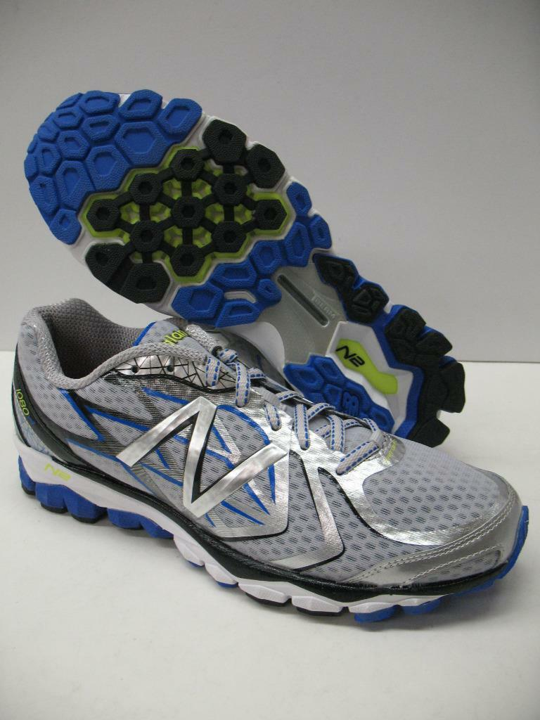 New Balance 1080 v4 Running Cross Training Shoes Silver Blue Mens 8 EXTRA WIDE