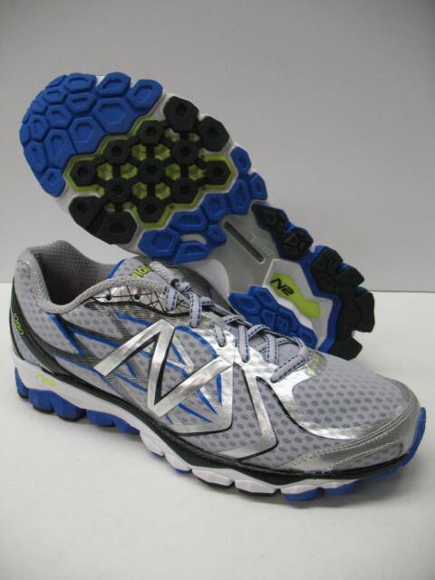 New Balance 1080 v4 Running Cross Training Shoes Silver Blue Men 8 4E EXTRA WIDE