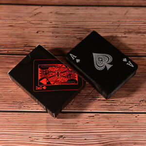 Waterproof-Black-Plastic-Playing-Cards-Collection-Poker-Cards-Board-Gam-IJ