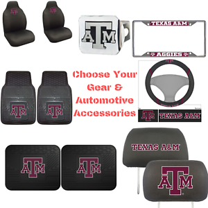NCAA-Texas-A-amp-M-University-Choose-Your-Gear-Auto-Accessories-Official-Licensed