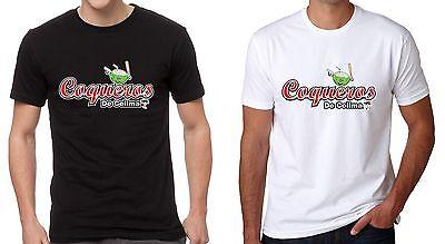 Energetic Coqueros De Colima Men's T-shirt Crew Neck 100% Cotton S-2xl Black/white Baseball-other