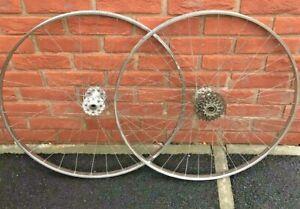 Dunlop-Special-Lightweight-wheelset-Campagnolo-Gran-Sport-Hubs-27-x-1-1-4-Eroica