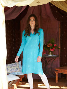 75-OFF-SALE-Nomads-Long-Embroidered-Kaftan-Cheesecloth-Cotton-ER49