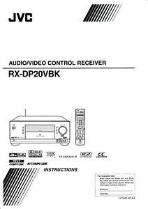 Tv, Video & Audio KöStlich Bedienungsanleitung-instruction Book Für Jvc Rx-dp20 Vbk Warmes Lob Von Kunden Zu Gewinnen