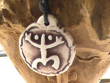 POLYNESIAN RASTA necklace, frog man with dreads BLESSED BY NATIVE AMERICAN