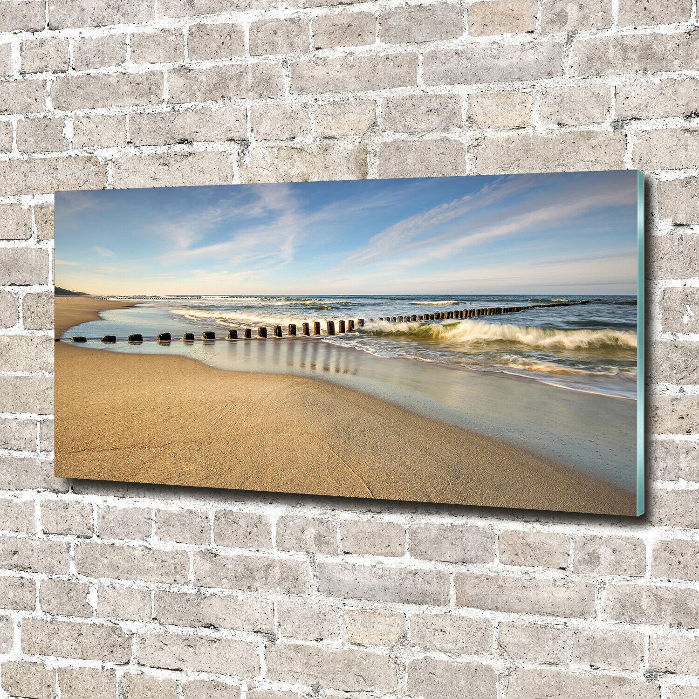 Wandbild aus Plexiglas® Druck auf Acryl 140x70 Landschaften Strand Ostsee
