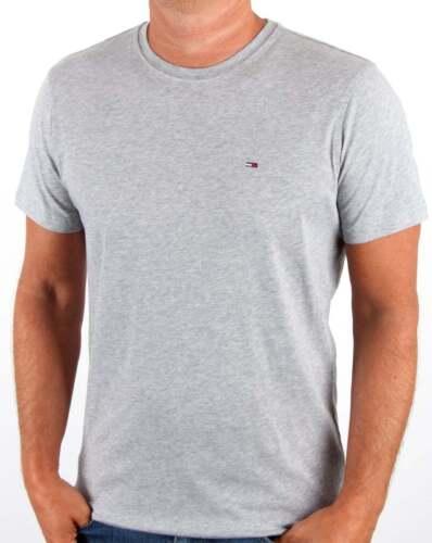 Tommy Hilfiger Cotton Crew Neck T Shirt in Light Grey Heather short sleeve tee