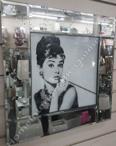 Audrey-Hepburn-034-Breakfast-at-Tiffany-039-s-034-pictures-with-white-step-mirror-frames