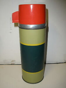 ALADDIN-INDUSTRIES-VACUUM-BOTTLE-VINTAGE-METAL-THERMOS