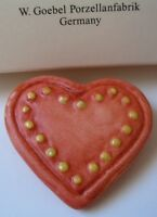 M.i Hummel™ By Goebel Hand Painted Heart With Dots Pin Adorable/new In Box