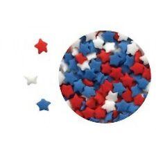 Edible Confetti Sprinkles Cookie Cake Cupcake MINI PATRIOTIC STARS 8 oz.