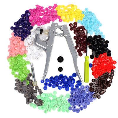 New-Button-Fastener-Snap-Pliers-150-Set-T5-Plastic-Resin-Press-Stud-Cloth-Diaper