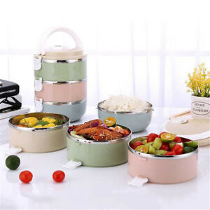 1234 Layers Stainless Steel Lunch Box Bento Thermal Insulated