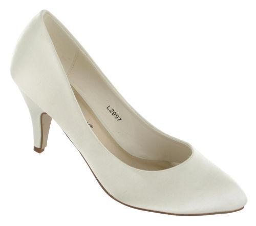 L2997-femmes anne michelle satin ivoire mariage chaussures-prix exceptionnel!