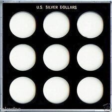 "Capital Plastic Galaxy 6.5""x 6.5"" - 9-Coin Holder U.S. Silver Dollars - Black"