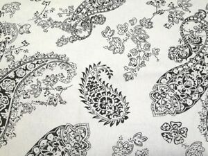 100/% Premium Cotton Upholstery Canvas Fabric,Beige Paisley Printed Fabric.