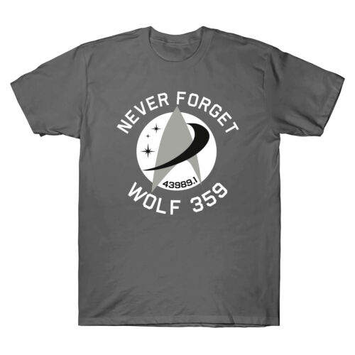 Never Forget 43989 Wolf 359 Alien Retro Men/'s T-Shirt Cotton Short Sleeve Tee