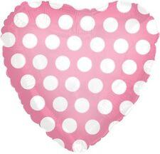 "18"" Polka Dot Pink Heart Shape Balloon Wedding Baby Shower Birthday Bridal"