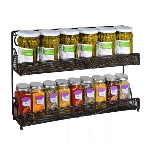 Pantry Cabinet Door Shelf Storage Wall Mount Organizer AMT Spice Rack
