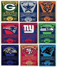 "Brand New NFL Teams New Logo Large Soft Fleece Throw Blanket 50"" X 60"" Marque"