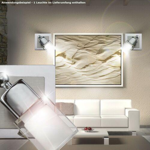 COB LED 5 Watt Wand Strahler beweglich Esszimmer Beleuchtung Glas Chrom Lampe