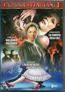 Classici-Italiani-1-Cofanetto-Con-3-Grandi-Film-In-Dvd-Nuovo-Sigillato