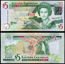 EAST CARIBBEAN STATES 5 DOLLARS (P47) (2008) QEII UNC