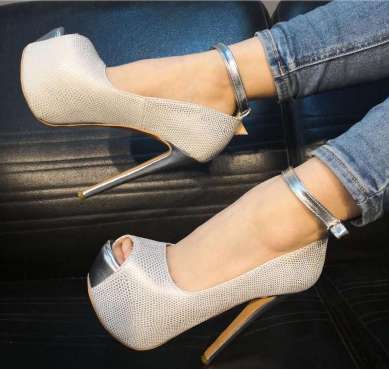 Womens Ankle Strap Peep Toe Sandals Ankle Strap Strap Strap High Heel shoes Uk Sz 2.5-10.5 48109d