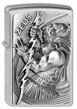 ZIPPO Feuerzeug ZEUS mit Emblem Street Chrome Göttervater OVP NEU Sammlerstück!!