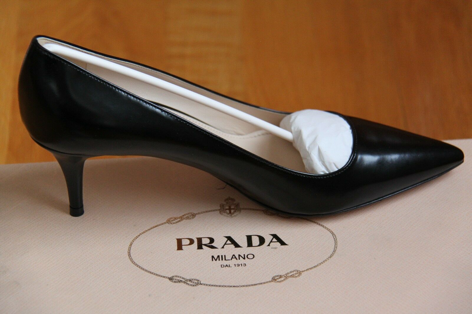 NIB New PRADA 1I619D LOW HEEL PUMPS shoes shoes shoes Black Sizes 35-39   650+tax c1c740