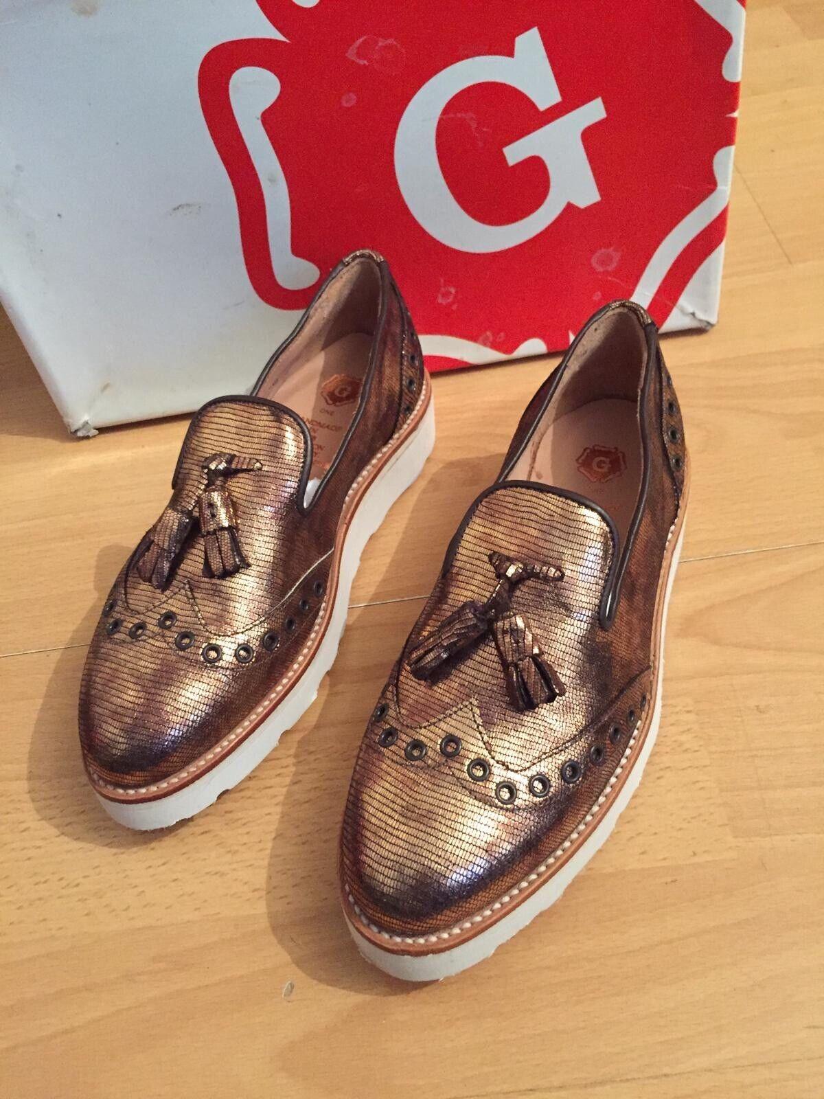 Grenson G One  damen Leather Tassel Loafer, Uk 5, Made In England