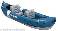 SEVYLOR RIVIERA 2 PERSON INFLATABLE KAYAK & PADDLE boat man canoe blow up 205514