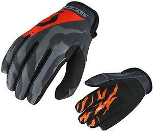 GUANTI-GLOVES-MOTO-ENDURO-CROSS-MX-SCOTT-350-RACE-BLACK-ORANGE-ARANCIO-NER-TG-XL