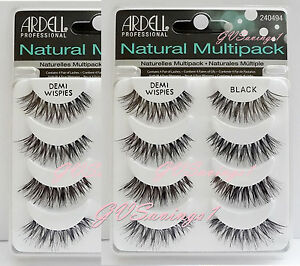 8-Pairs-Ardell-DEMI-WISPIES-NATURAL-MULTIPACK-False-Eyelashes-AUTHENTIC-Lot