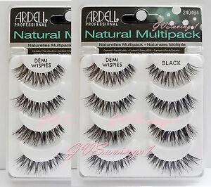8-Pairs-Ardell-DEMI-WISPIES-NATURAL-MULTIPACK-False-Eyelashes-Fake-Lashes-Lot
