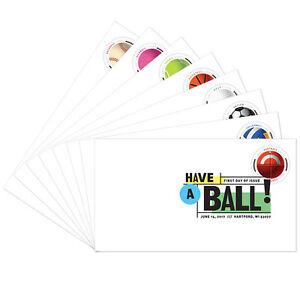 USPS-New-Have-a-Ball-Digital-Color-Postmark-set-of-8