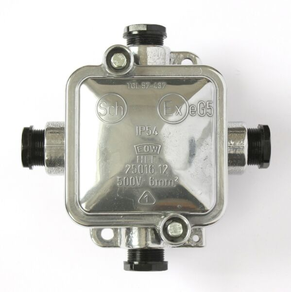Abzweigdose Groß Aluminium Poliert Industrie Design Verteiler-dose Bakelit Antik