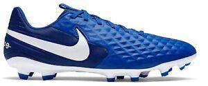 Nike-Hommes-Football-cames-Chaussures-Pelouse-Sport-Legend-8-Academy-FG-MG-Bleu-Blanc