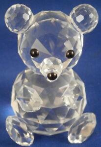 Lindo-Cristal-de-Swarovski-Oso-Peluche-Estatuilla-Figura-Austria-Ninos-Juguete